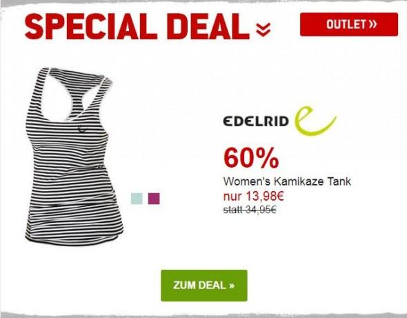 Edelrid Womens Kamikaze Tank um 60% reduziert