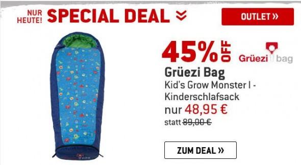 Grüezi Bag - Grow Monster I - Schlafsack um 45% reduziert