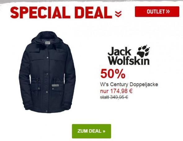 Jack Wolfskin Ws Century Doppeljacke um 50% reduziert