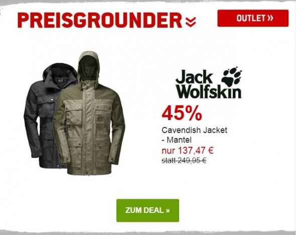 Jack Wolfskin - Cavendish Jacket - Mantel um 45% reduziert