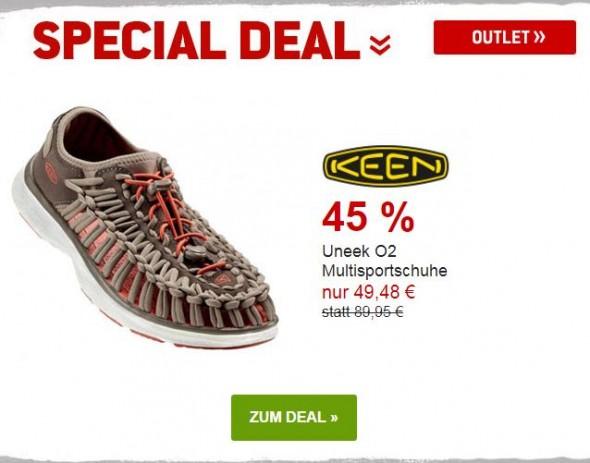 Keen - Uneek O2 Mulitsportschuhe um 45% reduziert