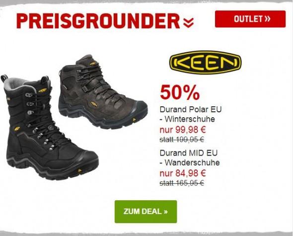 Keen - Winterschuhe & Wanderschuhe um 50% reduziert