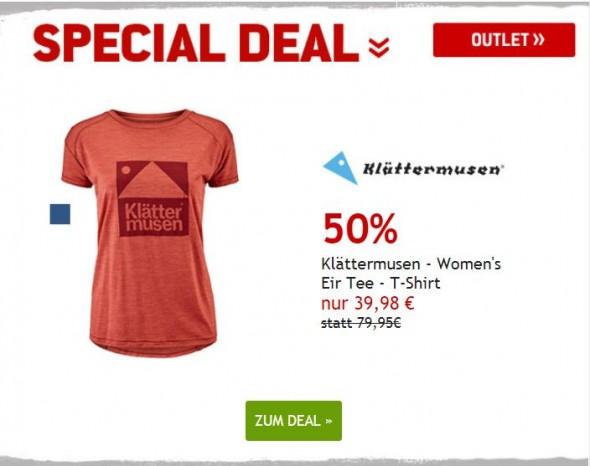 Klaettermusen T-Shirt um 50% reduziert