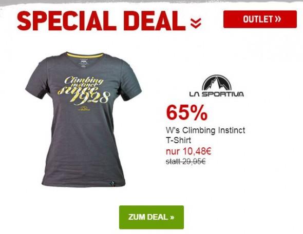 La Sportiva - Ws Climbing Instinct T-Shirt um 65% reduziert