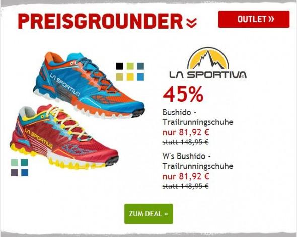 La Sportiva Trailrunningschuhe um 45% reduziert