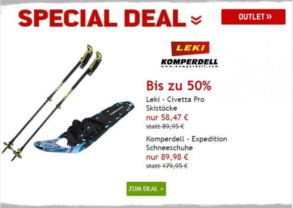 Leki Skistöcke & Komperdell Schneeschuhe um bis zu 50% reduziert