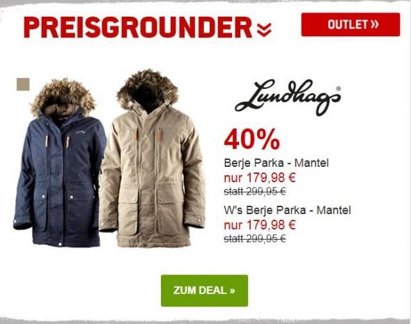 Lundhags Berje Parka - Mantel für Männer und Frauen um 40% reduziert