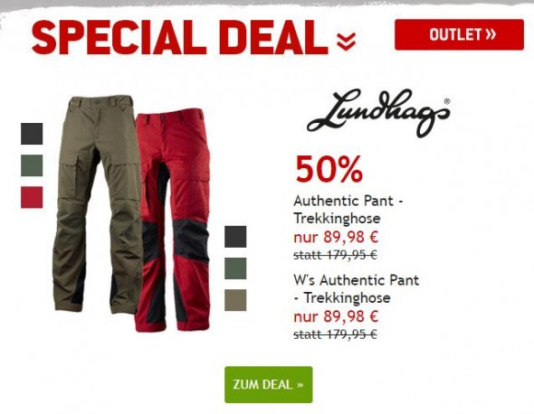 Lundhags Authentic Pant - Trekkinghosen fü Männer und Frauen um 50% reduziert