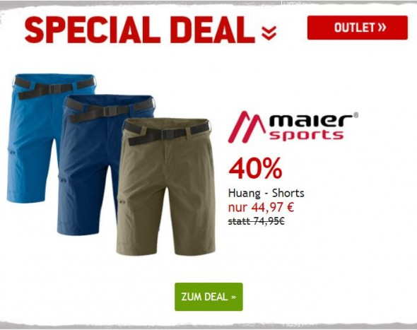 Maier Sports Shorts um 40% reduziert