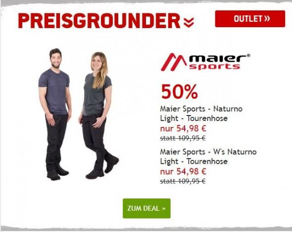 Maier Sports Naturno Light Tourenhose für Männer und Frauen um 50% reduziert