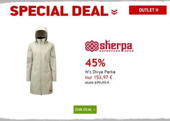 Mantel von Sherpa um 45% reduziert