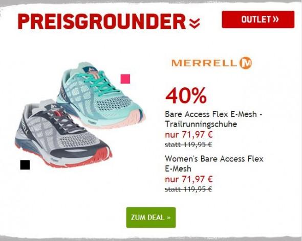 Merrell Trailrunningschuhe um 40% reduziert