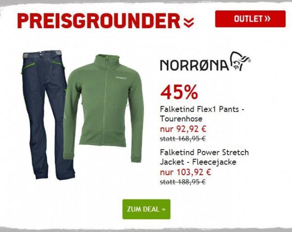 Norrøna Tourenhose & Fleecejacke um 45% reduziert