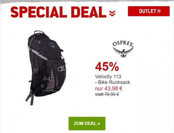 Osprey - Velocity 13 - Bike-Rucksack um 45% reduziert