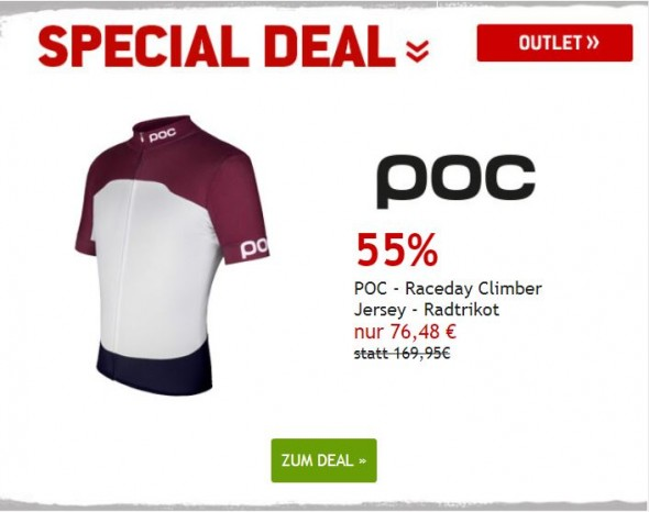 POC Climber Jersey Radtrikot um 55% reduziert