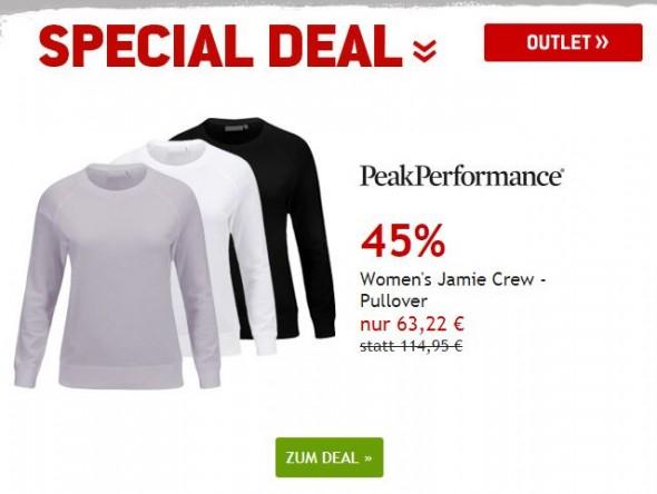 Peak Performance Womens Jamie Crew Pullover um 45% reduziert