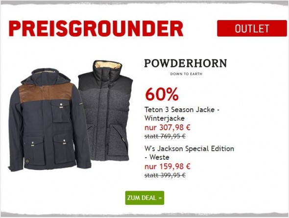 Powderhorn Winterjacke & Weste um 60% reduziert