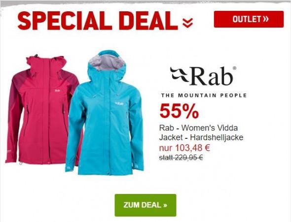 Rab - Ws Vidda Hardshelljacke um 55% reduziert