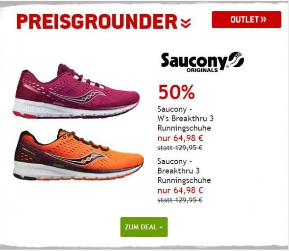 Saucony Breakthru 3 Runningschuhe für Männer und Frauen um 50% reduziert