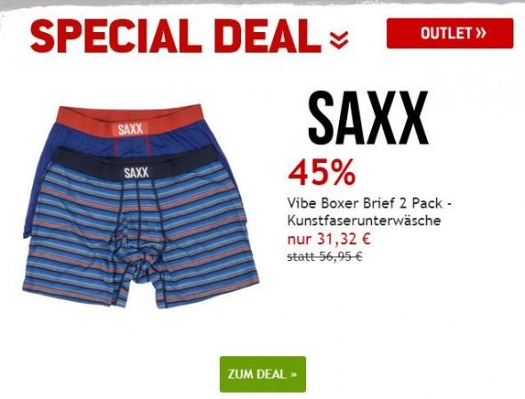 Saxx Vibe Boxer Brief 2 Pack um 45% reduziert