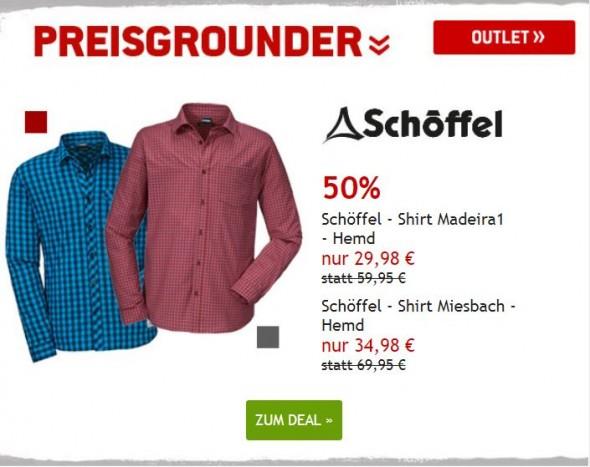Schöffel Hemden um 50% reduziert