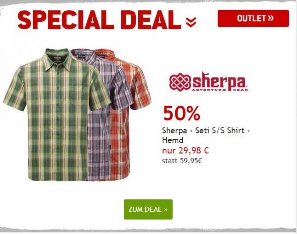 Sherpa Seti S/S Shirt - Hemd umd 50% reduziert