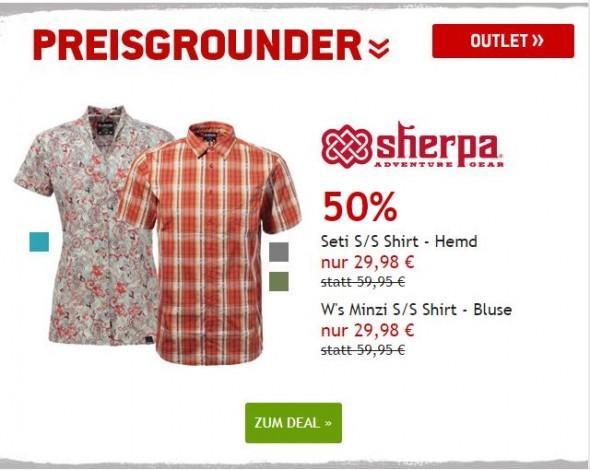 Sherpa Hemd und Bluse um 55% reduziert