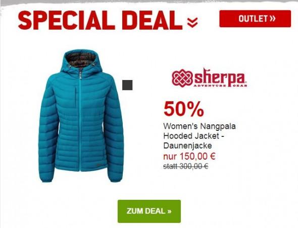Sherpa Ws Nangpala Hooded Daunenjacke um 50% reduziert