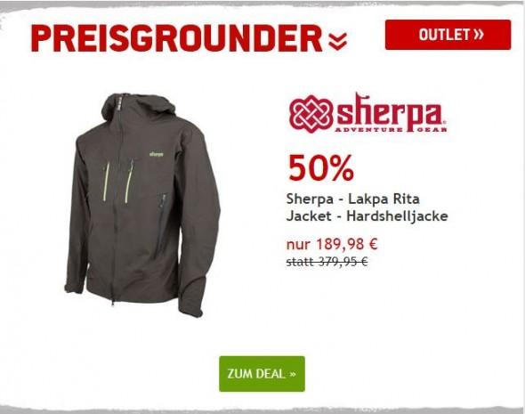 Sherpa - Lakpa Rita - Hardshelljacke um 50% reduziert