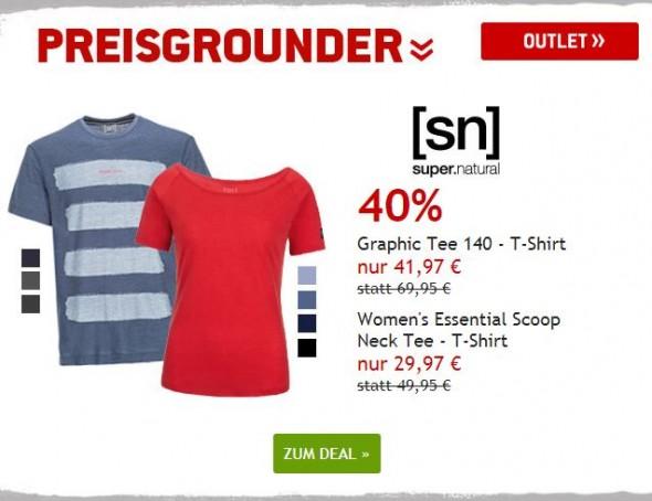 SuperNatural T-Shirts um 40% reduziert