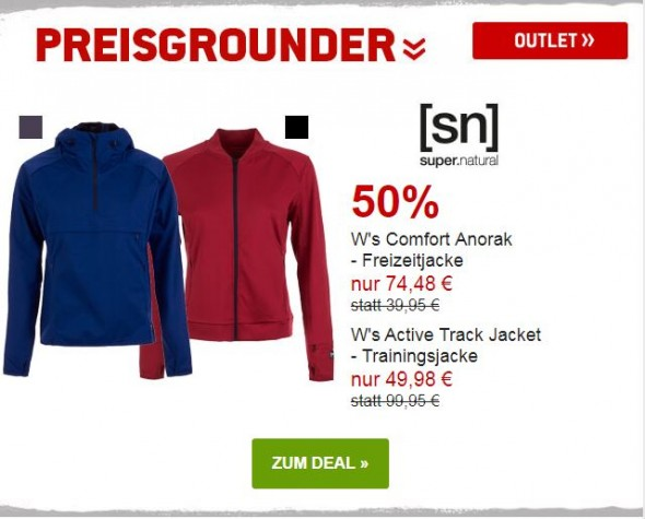 Supernatural Jacken für Frauen 50% reduziert