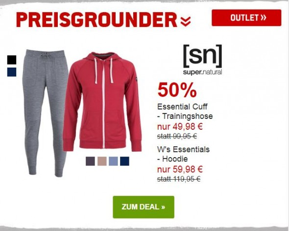 Supernatural Womens Essential Hoodie & Trainingshose um 50% reduziert