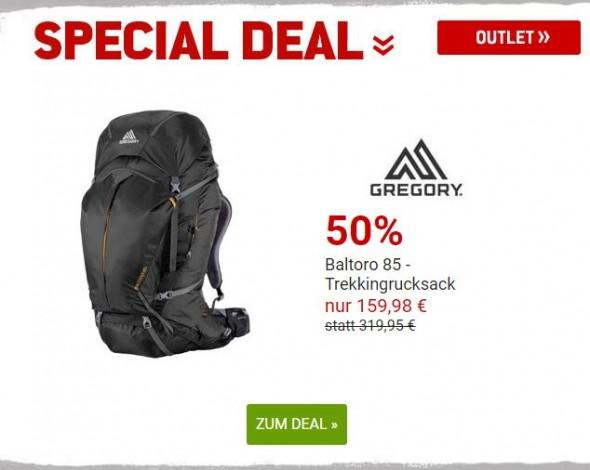 Trekkingrucksack von Gregory um 50% reduziert