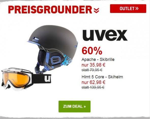 Uvex - Skibrille & Skihelm um 55% reduziert