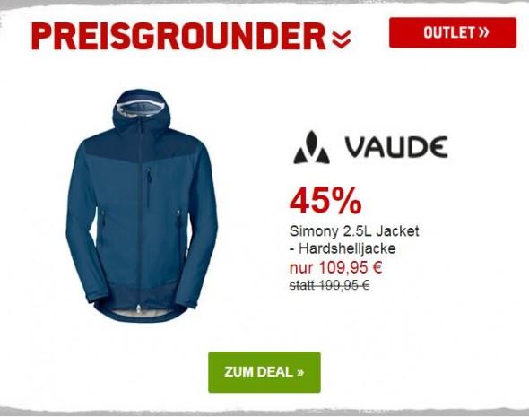 Vaude - Simony 2.5L jacket - Hardshelljacke um 45% reduziert