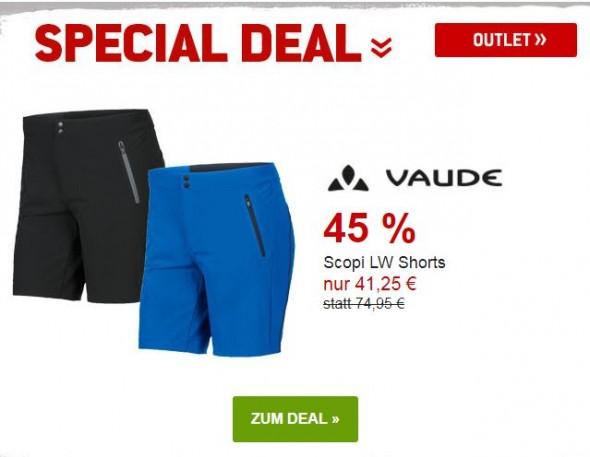 Vaude - Scopi LW Shorts um 45% reduziert