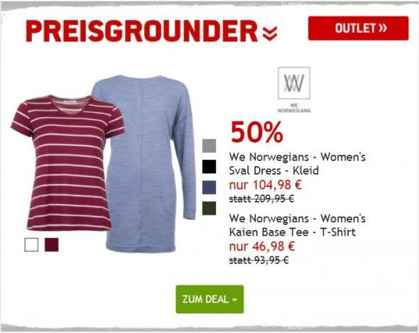 We Norwegians Kleid und T-Shirt um 50% reduziert