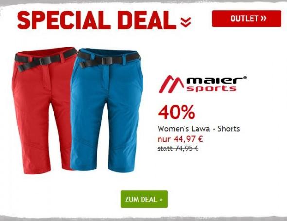 Women's Lawa Shorts von Maier Sports um 40% reduziert