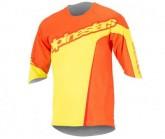 3/4 Trikot Crest Herren orange/yellow