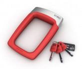 Bügelschloss Strongman inkl. Rahmenhalter red/silver