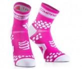 Compressport Lauf Socken Racing V2 Unisex Fluo Pink