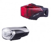 Fahrradlampe Bongo LED Set black