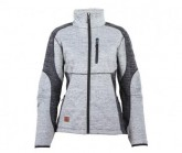 Fleecejacke Borlänge Knitted Damen grey melange