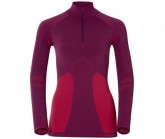 Funktionsshirt LS Turtle neck 1/2 zip evolution Damen magenta purple-pomegranate