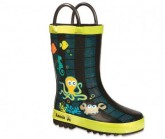 Gummistiefel Octopus Kinder lime