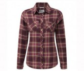 Hemd Valemont Damen dark rioja/red