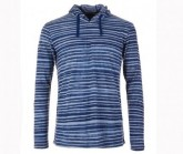Hoody Essential Light Printed Herren stone/water stripe print