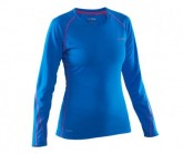 Longsleeve Damen electric blue/azalea pink