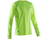 Longsleeve Herren safety yellow/ceramic green