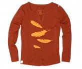 Longsleeve Rooftop Damen Rusty Red